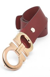 Men's Big And Tall Salvatore Ferragamo Calfskin Belt Red
