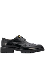 Versace Medusa Embossed Button Brogues Black