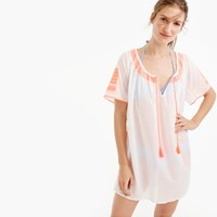 J.Crew Embroidered Tie Front Tunic