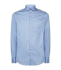 Tiger Of Sweden Denzel Stretch Cotton Slim Fit Shirt Male Sky