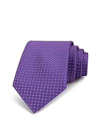 Bloomingdale's The Men's Store At Neat Circle And Diamond Silk Classic Tie Purple