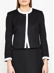Hobbs Jacquie Tipped Jacket Black Ivory