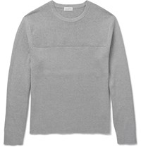 Club Monaco Slim Fit Ribbed Cotton Sweater Gray