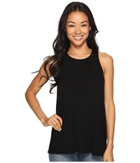 Rvca Label Tunic Tank Top Black Women's Sleeveless