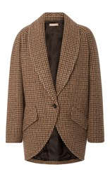 Michael Kors Collection Dolman Wool Melton Jacket Plaid