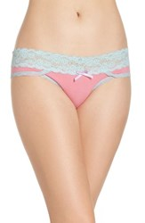 Honeydew Intimates Women's Lace Waistband Hipster Panties Rosewood