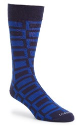 Lorenzo Uomo Men's Large Squares Socks