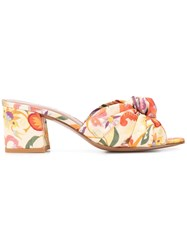 Etro Floral Open Toe Sandals Orange