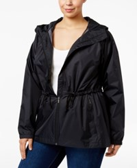 Columbia Plus Size Arcadia Hooded Waterproof Jacket Black