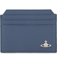Vivienne Westwood Milano Grained Leather Card Holder Blue