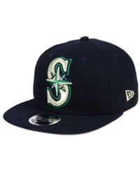 New Era Seattle Mariners Logo Grand 9Fifty Snapback Cap Navy