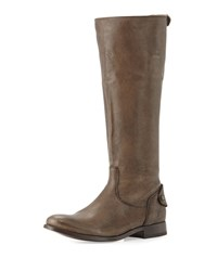 Melissa Leather Zip Back Riding Boot Gray Frye Grey