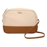 Tula Nappa Originals Small Leather Zip Cross Body Bag Cream
