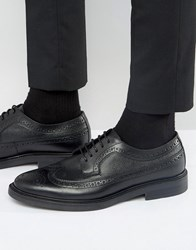 Zign Leather Brogue Derby Shoes Black