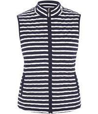 Viyella Blue And White Stripe Quilted Gilet Navy