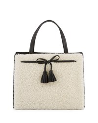 Kate Spade Hayes Street Sam Shearling Satchel Bag White
