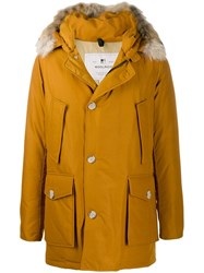 Woolrich Mid Length Parka Coat Brown