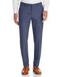 Hugo Boss Multi Textured Micro Box Check Regular Fit Trousers Bright Blue