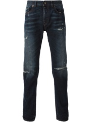 Diesel Black Gold 'Type 251' Distressed Jeans Blue