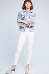 Anthropologie Citizens Of Humanity Carlie Crop High Rise Skinny Jeans White