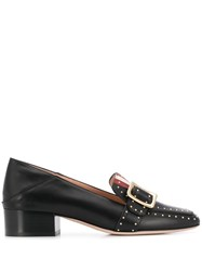 Bally Janelle Buckle Detail Loafers Black