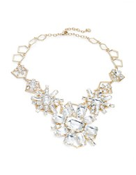 Rj Graziano Goldtone And Faceted Crystal Starburst Statement Necklace
