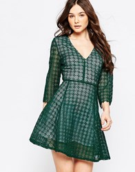 Sister Jane Harvest Moon Dress In Lace Green