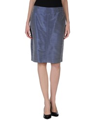 Mariella Rosati Skirts Knee Length Skirts Women Slate Blue