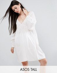 Asos Tall Beach Cover Up With Embroidery White