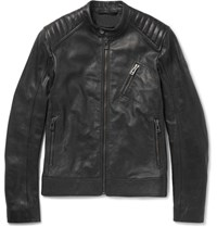 Belstaff V Racer Slim Fit Leather Jacket Black