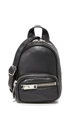 Alexander Wang Attica Soft Mini Backpack Cross Body Bag Black