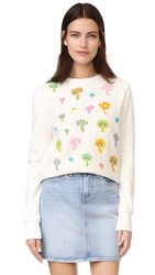 Olympia Le Tan Bloomers Sweatshirt Off White