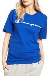 Champion Women's Crewneck Tee Surf The Web