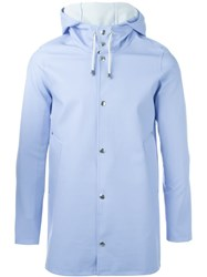 Stutterheim Hooded Coat Blue
