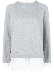 Twin Set Contrast Layer Sweatshirt Grey