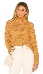 House Of Harlow 1960 X Revolve Saylee Sweater In Yellow. Pollen