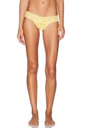Hanky Panky Low Rise Thong Yellow