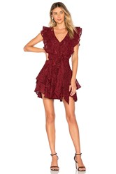 Marissa Webb Corrine Lace Dress Wine