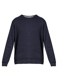 Valentino Raw Edge Patch Applique Sweatshirt Indigo