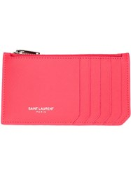 Saint Laurent 'Paris' Wallet Pink And Purple