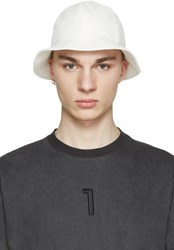 D By D White Faux Leather Bucket Hat
