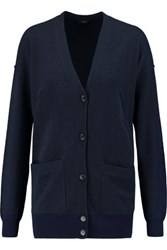 Joseph Stretch Wool Knit Cardigan Navy