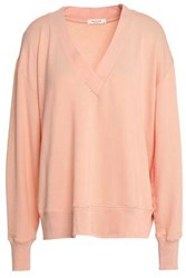 Rag And Bone French Modal Blend Terry Top Peach