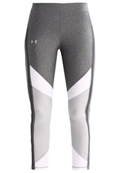 Under Armour Tights Carbon Heather White Metallic Silver Dark Grey