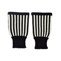 Margot And Me Short Fingerless Mittens Billy Black White