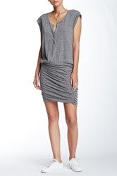 Pam And Gela Muscle Henley Dress Gray