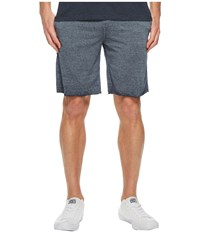 Threads For Thought 4 Burnout Fleece Shorts Raw Denim Navy