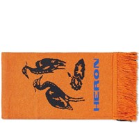 Heron Preston Double Scarf Orange