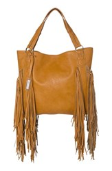 Urban Originals 'Castaway' Fringe Tote Brown Tan