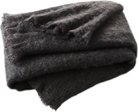 Cb2 Mohair Grey Throw